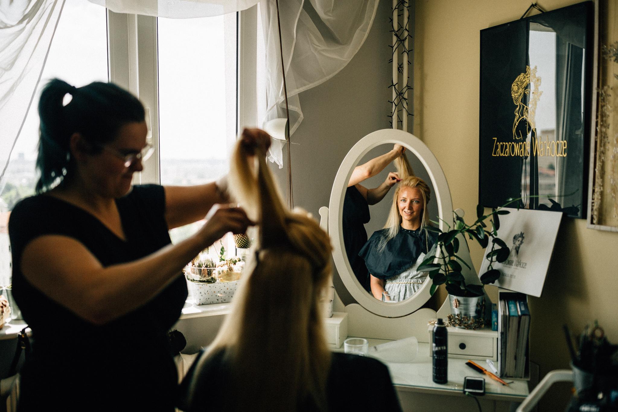 Fryzura ślubna W Domu Czy W Pracowni Zaczarowane Warkocze
